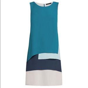 BCBGMaxazria Blue Haley Shift Dress